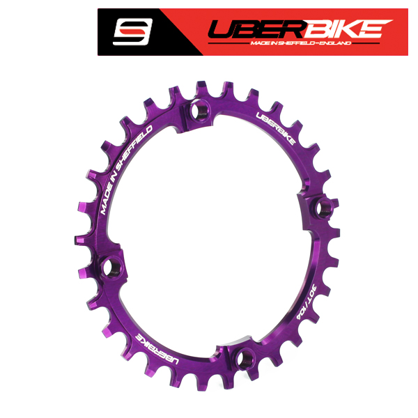 Uberbike Made In Sheffield 104mm BCD Narrow Wide Single Chainring - Purple