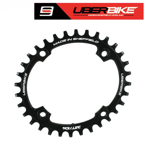 Uberbike Oval 104 BCD 32T Advantage Narrow Wide Chainring - Black