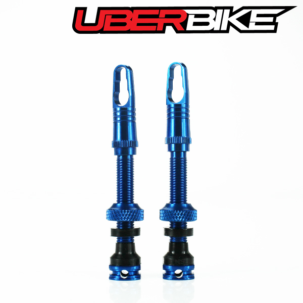 Uberbike Airtech CNC Alloy Tubeless Valves 40mm - Blue