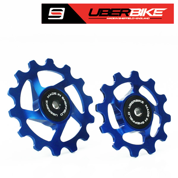 Uberbike Made In Sheffield SRAM Eagle 12 Speed Compatible Pulley Wheels - Blue