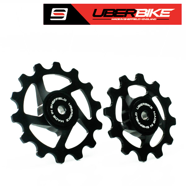 Uberbike Made In Sheffield SRAM Eagle 12 Speed Compatible Pulley Wheels - Black