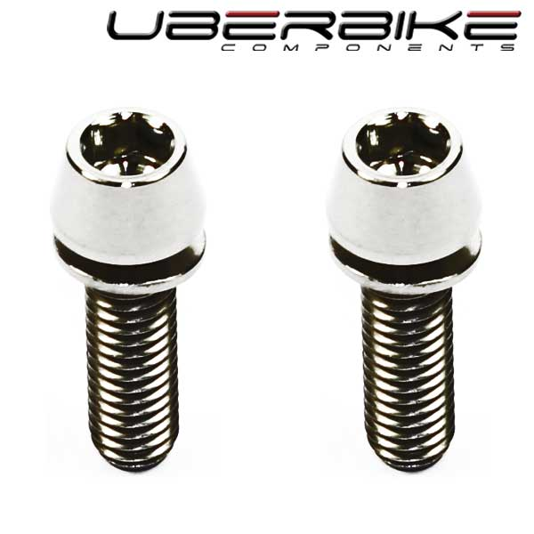 Uberbike Hollowtech 2 Titanium Crank Bolt Upgrade Kit - Raw Polished
