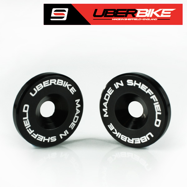 Uberbike Made In Sheffield - Orange Bikes Pivot Bearing Caps 28mm MKIII 2014 Onwards - Black