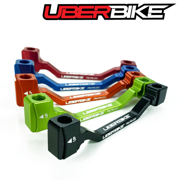 Uberbike Post to Post PM7/180mm Direct Mount to 203mm Disc Brake Adapter - Colour Options