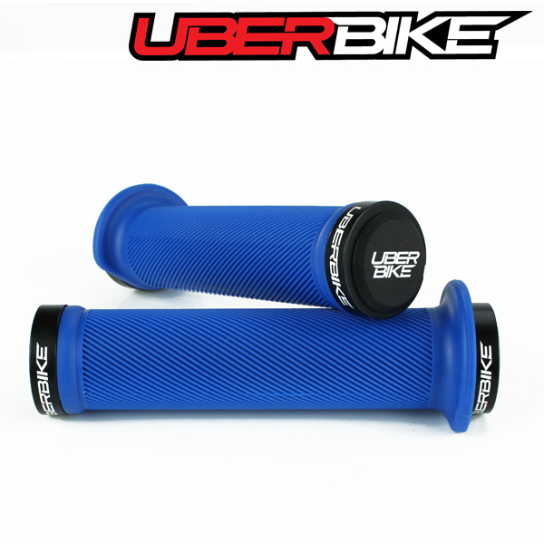 Uberbike Tight Flange Lock On Grips - Blue