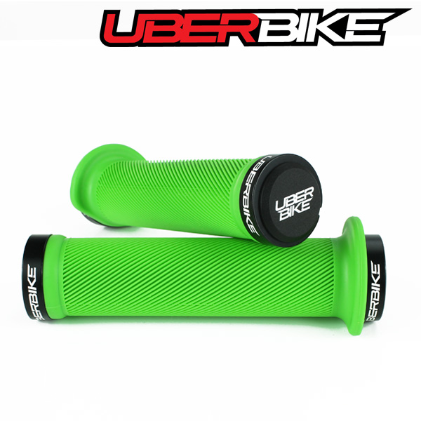 Uberbike Tight Flange Lock On Grips - Green