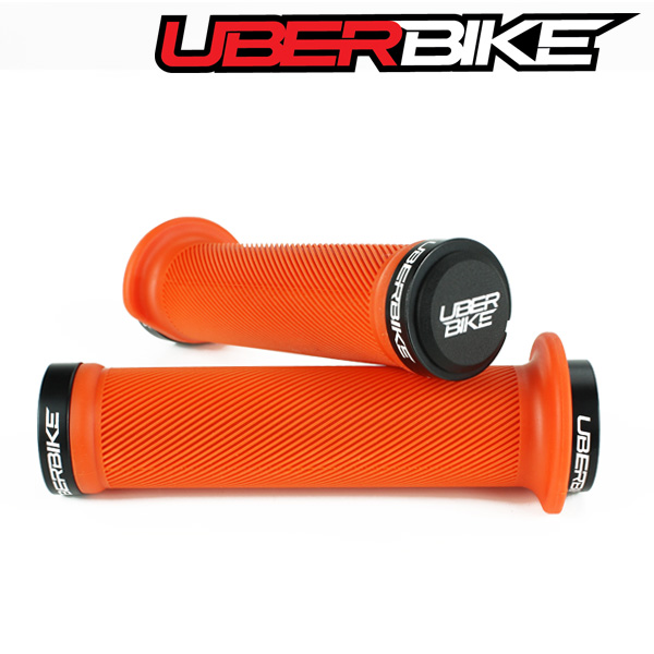 Uberbike Tight Flange Lock On Grips - Orange