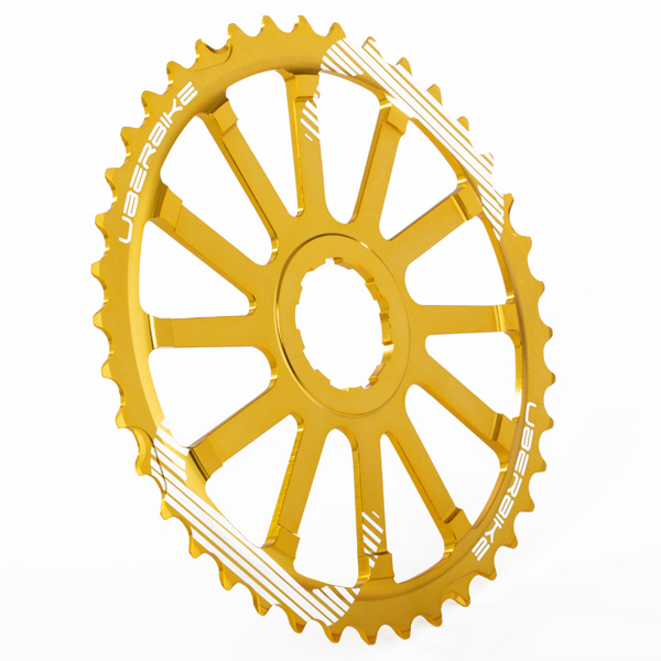 Uberbike Expander Sprocket - 40t and 42t options - Gold